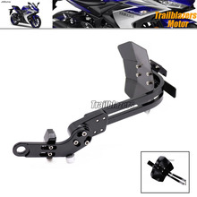 For YAMAHA YZF R25 R3 YZF-R25 YZF-R3 Motorcycle CNC Aluminum Mudguard Rear Fender Bracket License Plate Holder Light
