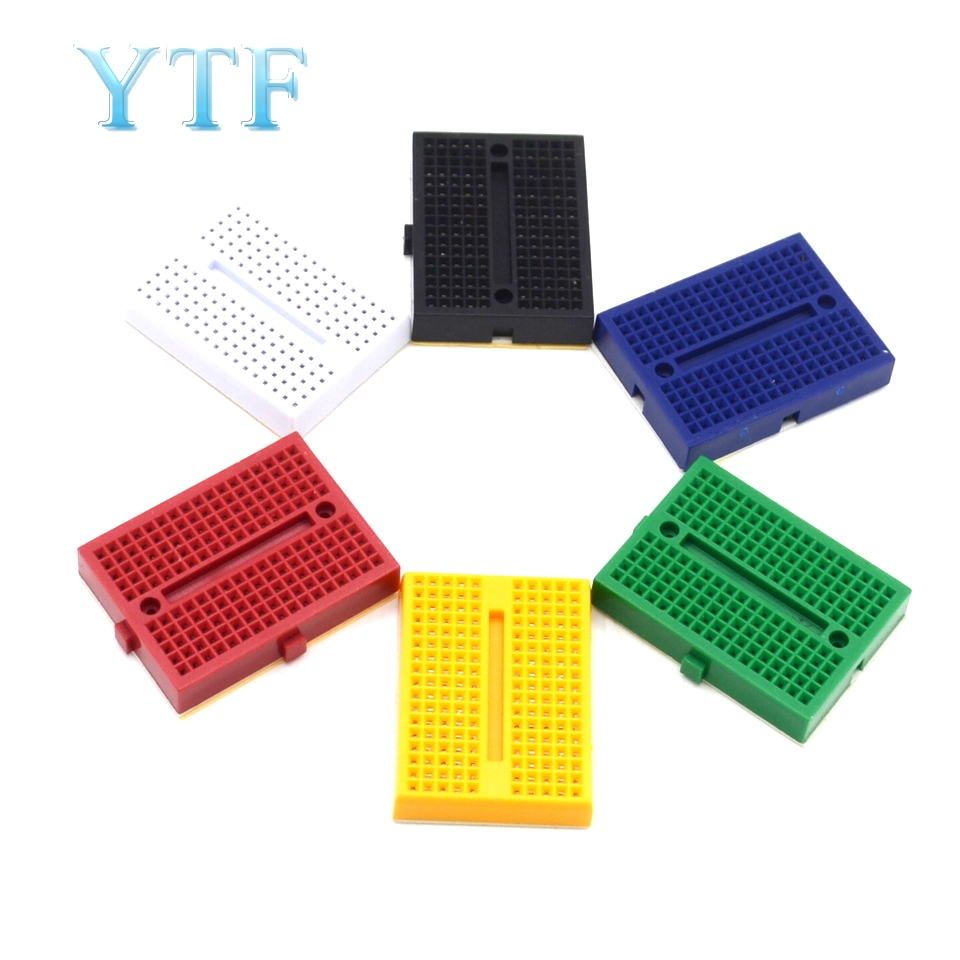 SYB-170 Mini Prototype Experiment Test Breadboard Board Tie-points 170 Tie-points 35*47*8.5mm 6 Color