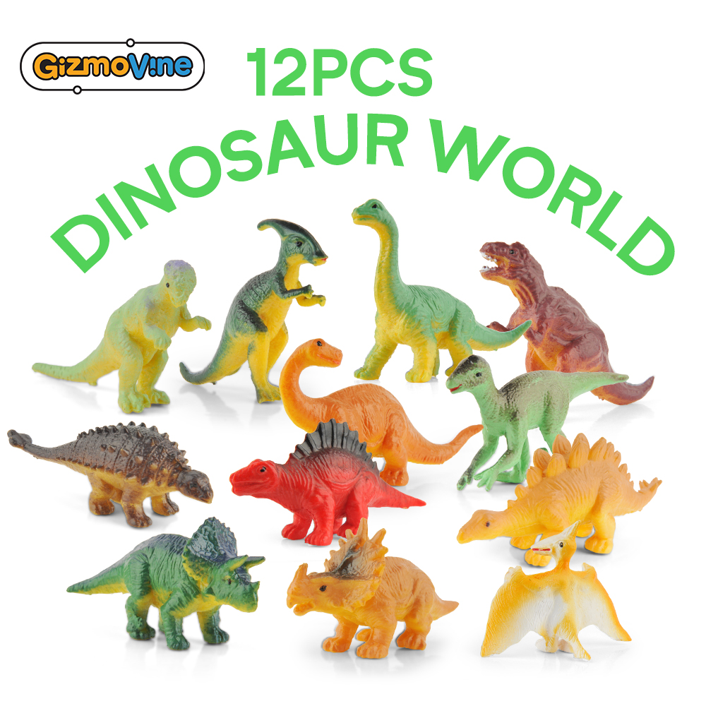 GizmoVine 12PCS Dinosaur Toy Jurassic Noctilucent Dinosaur Model Toys Kids Simulated Solid Dinosaur Model For Birthday Christmas