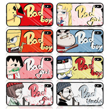 High Grade Tempered Glass Phone Case For iPhone XR XS MAX X Comics Cover 7 8 6S 6 Plus Fitted Cases