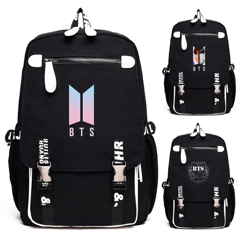 New Bts Bangtan Boys Love Yourself Answer Jungkook Jimin Same Students Cool Shopping Travel Bag Backpack Harajuku Canvas Bag Men's Bags