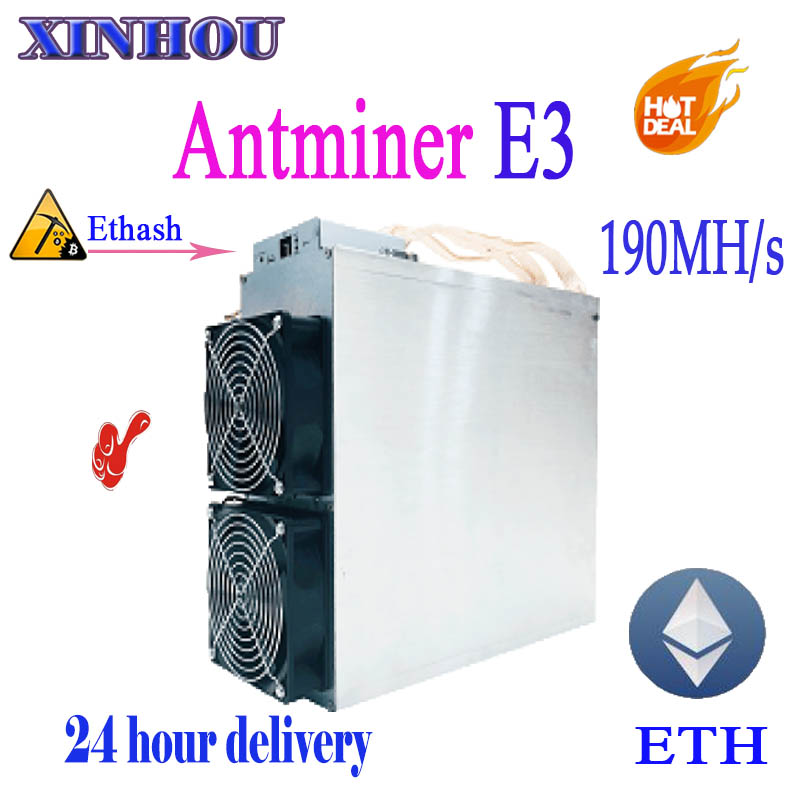 ETH Ethereum miner Antminer E3 190MH/S Asic Ethash no PSU ETH ETC Mining machine Better Than S9 S9i T9 Innosilicon A10 A7 M3 M10 eth miner in stock original bitmain antminer e3 ethash ethereum eth mining machine from bitmain power supply not included