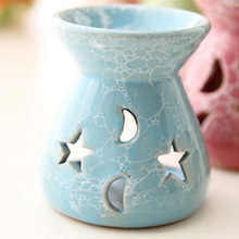 Mini Love Heart Ceramic Aroma Lamp Hollowing Candle Furnace Essential Oil Home Furnishing Decoration E $
