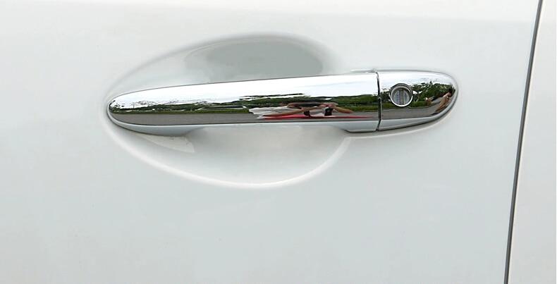 Příslušenství pro auto chróm, obložení dveřní kliky pro Mazda 6 2014 2015 CX-5, ABS chrom