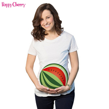 Happy Cherry Maternity T-Shirts Funny Pregnancy Shirts Cute Shirt Cotton Tee Blouse Clothes Cheap Novelty Geek T