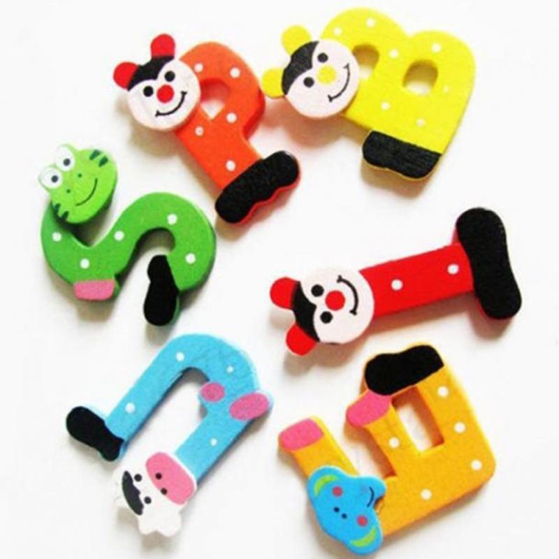 Деревянный магнит на холодильник мультфильм алфавит развития интеллекта игрушка детская Магнитная Стикеры классе Доски гаджет