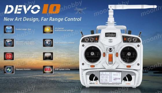 Walkera Devo 10 white 2.4Ghz 10Ch Walkera Radio free shipping with tracking