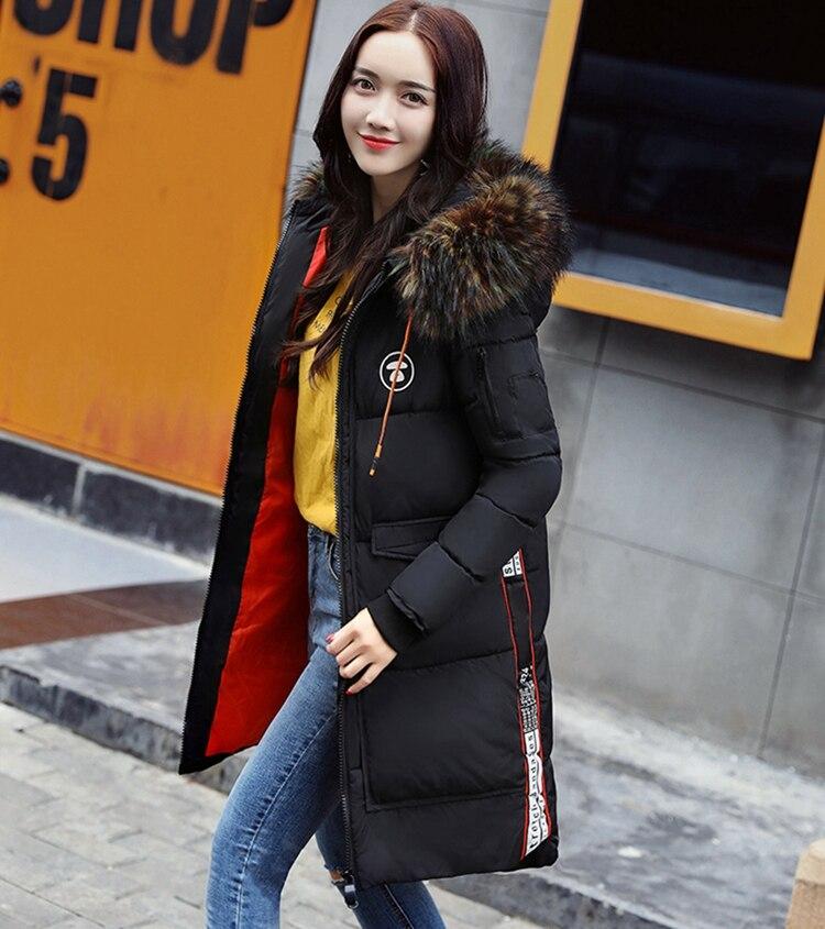 USD  新冬ジャケット女性コート暖かいスリム太いロングパーカー良質カラーの毛皮の襟フード女性コート女性ジャケット Mushi 15