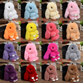 Fashion Cute Fluffy Bunny Bag Pendant Lovely Play Dead Rabbit Animal Toy Keychain Car Decor warm Fur Rex Rabbit freeship