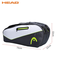 HEAD Racket Sport Bags For 9 Pieces Badminton Racket Brand Portable PU Shoes Bag Raquete De Tenis Backup Quality Tennis Backpack