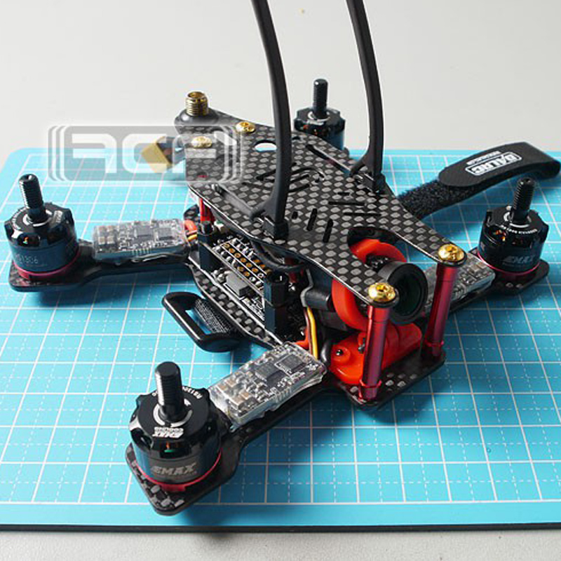 ARF 130mm FPV Racing Mini Drone  Carbon Quadcopter Frame SP RACING F3 ACRO Emax RS1306 motor LittleBee 20A OPTO PRO 3045 mini 130mm carbon fiber fpv quadcopter frame kits with emax 1306 4000kv motor littlebee blheli s spring 20a esc f3 f4 fc ts5823l