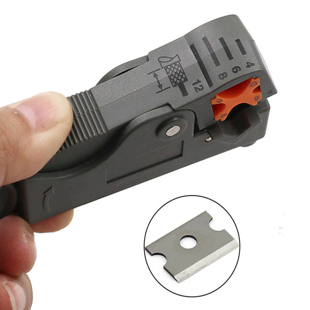 Portable Wire Stripper Cable Stripper ToolsCable Stripping Automatic Wire Cutter Multi Tools Double Blades stripped Wire Pocket