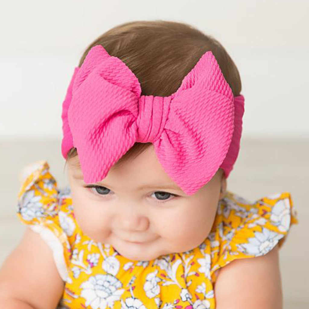 2019 Brand New Top Knot Headband Big Bow Knot Hairband Turban Headwrap Hair Accessories for Baby Girls Kids Toddler