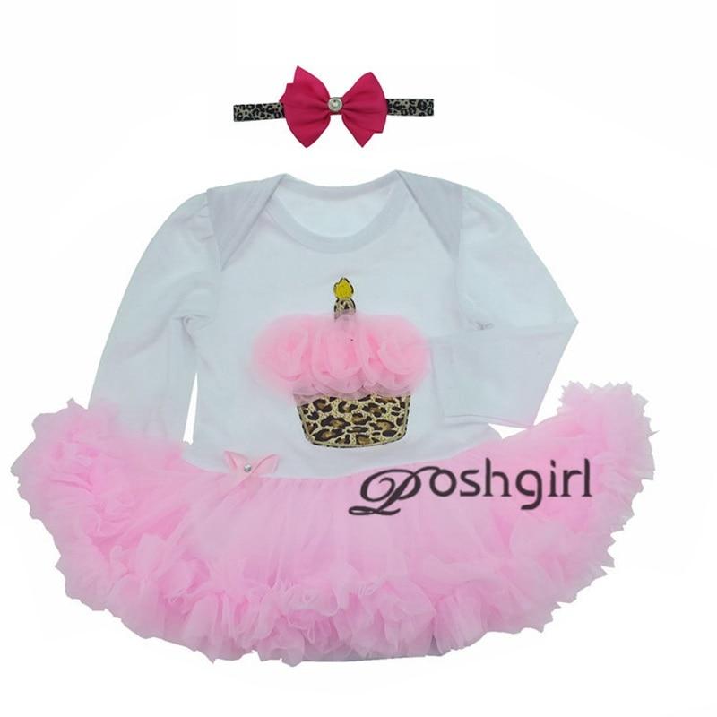 ФОТО baby girl dress 2pcs set baby romper vestido ropa bebe menina newborn christmas clothes set infant toddler birthday gift cupcake
