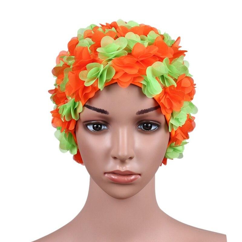Summer Average code Swim Pool Swimming Cap Hat for Women Petals Bathing Cap
