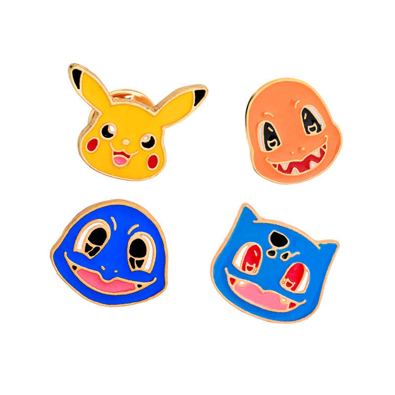 Cartoon Animatie Pokemon Broches Sieraden Leuke Elf Charmander Bulbasaur Pikachu Squirtle Speelse Legering Emaille Broche Pins