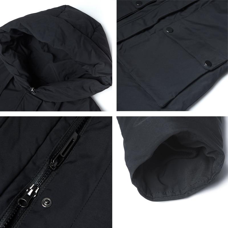 Icebear 2019 novo inverno com capuz jaqueta feminina casaco de moda feminina quente inverno parkas roupas mais tamanho gwd19078i - 5