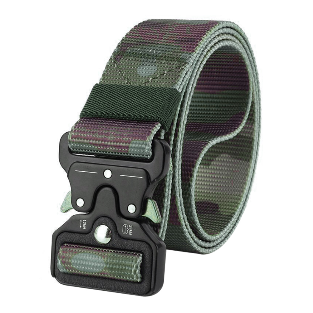 Army Style Men Tactical Belt Military Nylon Camouflage Training Belt Multifunctional Mens Outdoor Combat Hunting Belts Waistband