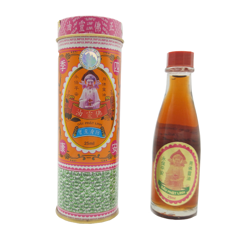 25ML Vietnam Buddha Oil For Headache Toothache Stomachache Dizziness Back Pain Active Oil Plaster Tiger Balm Ointment