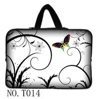 White Butterfly 7 10 12 13 15 Laptop Bag Neoprene Sleeve Case To Tablet Notebook Pouch