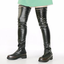 NAYIDUYUN   2018 Womens Winter Warm Over The Knee Boots Tall Shaft Motorcycle Boots Long Sneaker Shoes Buckle Thigh High Oxfords