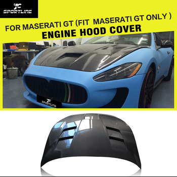 Carbon Fiber Engine Hood Cover Bonnet for Maserati GranTurismo Convertible Coupe 2Door 2006 - 2014