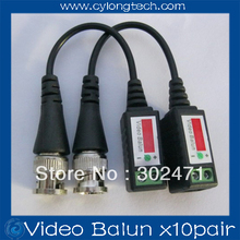 1pair/lot Twisted BNC Video Balun passive Transceivers UTP Balun BNC Cat5 CCTV UTP Video Balun up