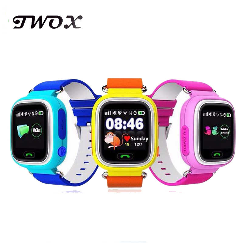 GPS smart watch baby watch Q90 with Wifi touch screen SOS Call Location DeviceTracker for Kid Safe Anti-Lost Monitor PK Q50 Q100