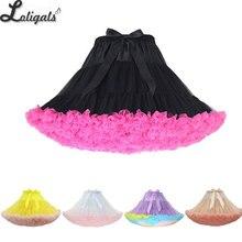 Bunte frauen Tutu Rock Erwachsene Tüll Ballett Dance Kostüm Flauschigen Kurze Petticoat