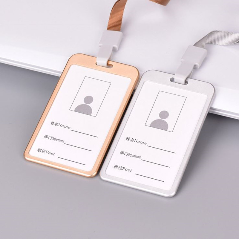 Office & School Supplies Labels, Indexes & Stamps Peerless Pvc Id Badge Holder Vertical Credit Card Bus Cards Case Papelaria Cute Stationery Supplies With Lanyard Badged Reel Products Hot Sale