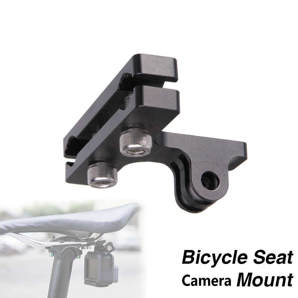 US $3 99 20% OFF|Aluminum Bicycle Racing Saddle Cycle Bike Seat Aluminium  Clamp Mount for GoPro Hero 4 /3+/3/2/1 SJ4000 SJ5000 Cameras-in Seatposts