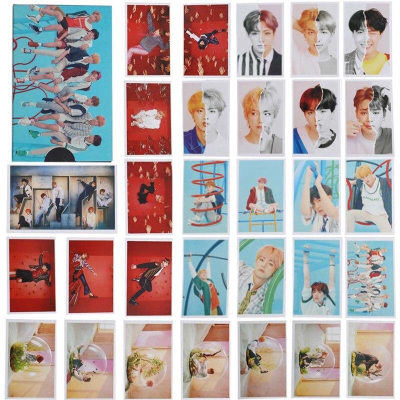 30 Pcs/set Kpop Bts Bangtan Boys Love Yourself Answer Album Transparent Photo Card Pvc Cards Self Made Lomo Card Photocard