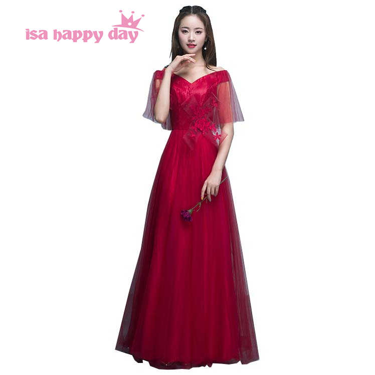 5609208d4b robe de soiree elegant long formal v neck wine red evening gowns engagement dresses  lace gown
