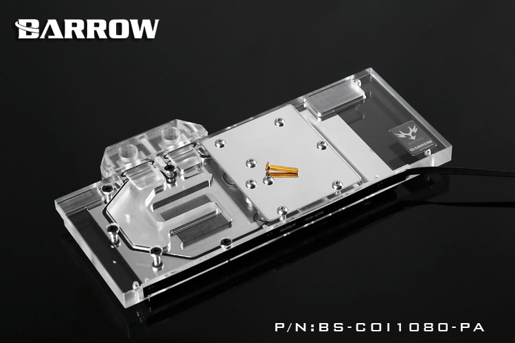 Barrow LRC RGB v1/v2 Full Cover Graphics Card Water Cooling Block BS-COI1080-PA for COLORFUL iGame GTX1080TI-X/1080-X/1070-X computador cooling fan replacement for msi twin frozr ii r7770 hd 7770 n460 n560 gtx graphics video card fans pld08010s12hh