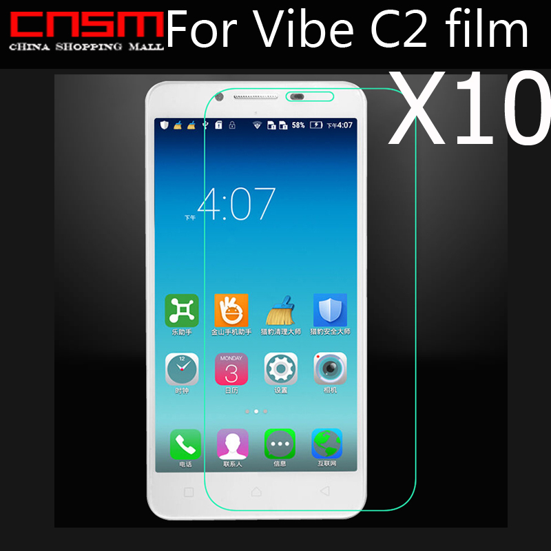 Support online tracking New tempered glass HD Premium Real Film Screen Protector for Lenove Vibe C2 free shipping 10/lot