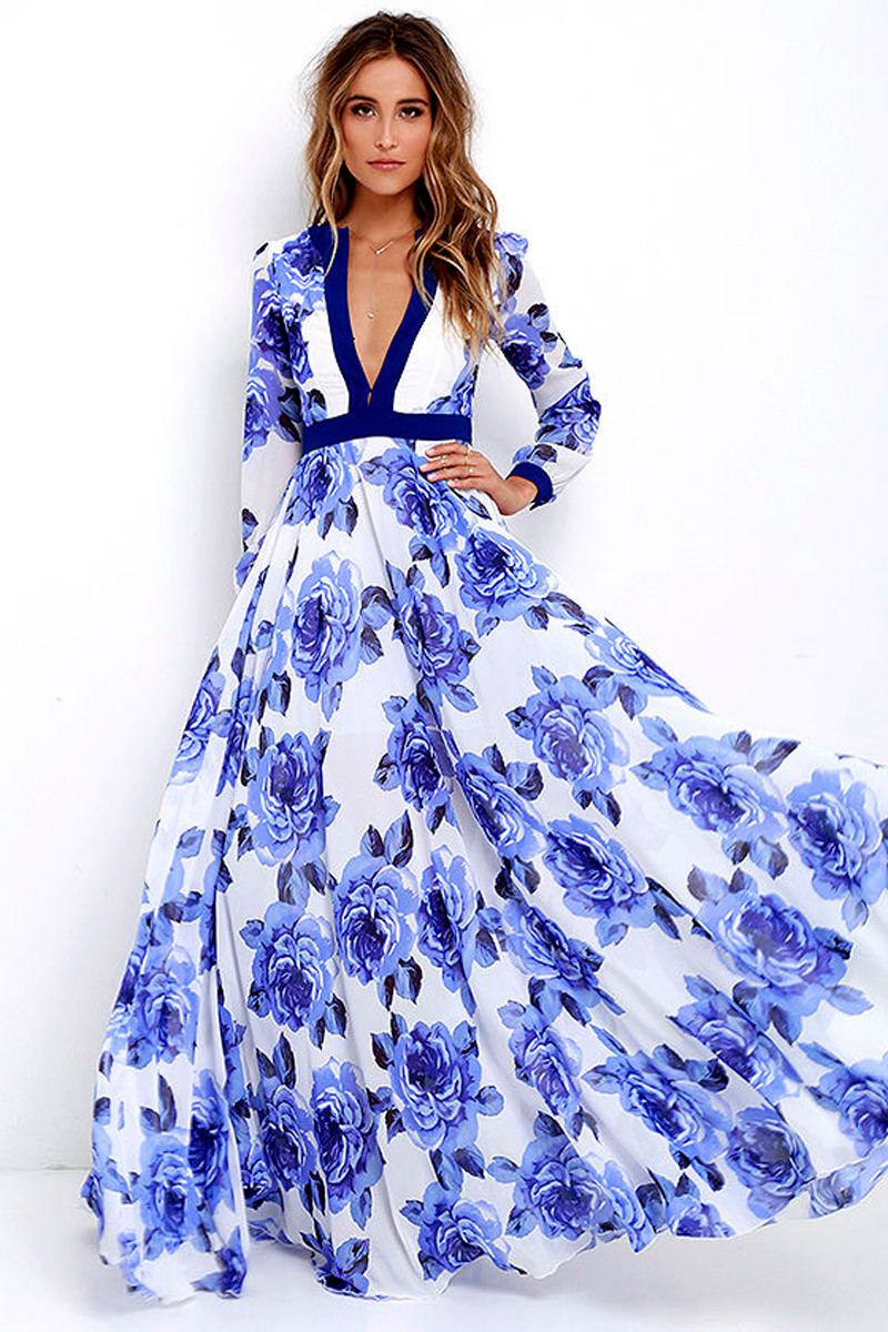 Fashion Dresses Accessories: 2017 Women Sexy Summer Floral Dress Maxi Long Evening