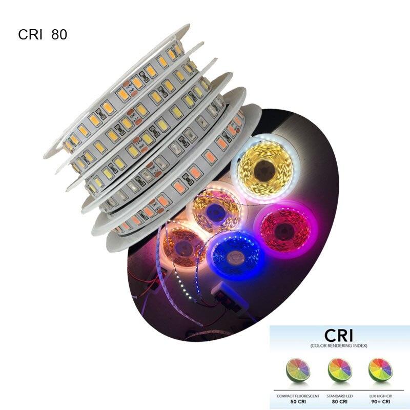 2018 New High Brightness 5m/480LED 80 CRI DC12V 24V LED Light Strip 5730 SMD LED 50-60lm Per LED Pink Blue White Available