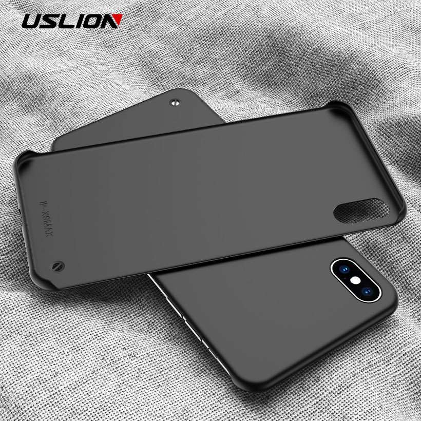 USLION Ultra Slim Matte Frameless Phone Case For IPhone XS Max XR X Candy Color Case