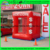 Alta calidad carpa cubo inflable efectivo, metálico inflable tornado máquina, eventos de promoción de dinero de la máquina