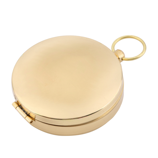 Outdoor Hiking Camping Accessories Classic Brass Pocket Watch Style Camping Compass Hiking Free Shipping