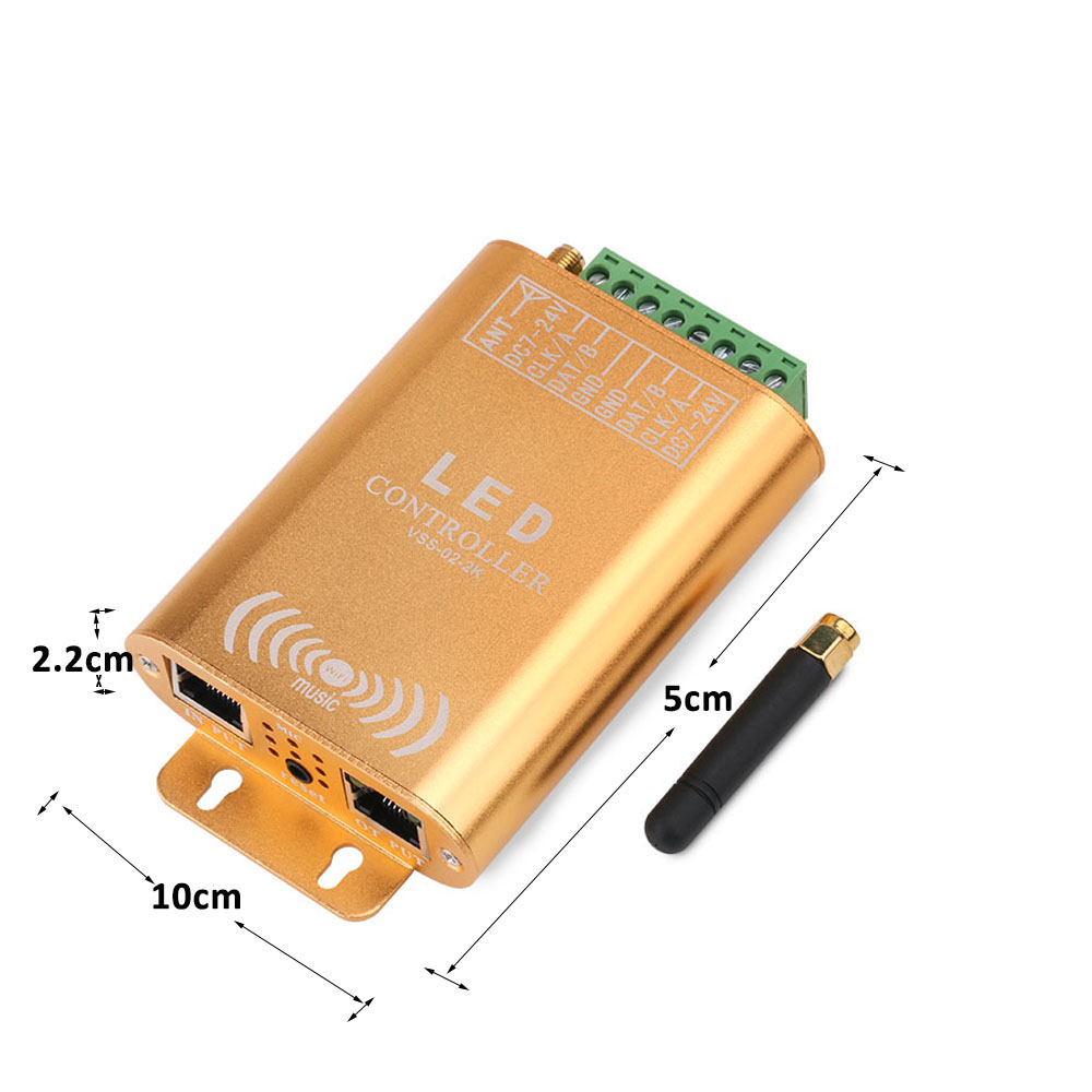 2048 pixel wifi spi controlador led digital endereçável controlador de música tira luz controlador com micphone - 5