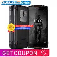 Véritable IP68 DOOGEE S55 étanche Smartphone 4GB RAM 64GB ROM 5500mAh MTK6750T Octa Core 5.5 pouces Android 8.0 double SIM 13.0MP 4glte
