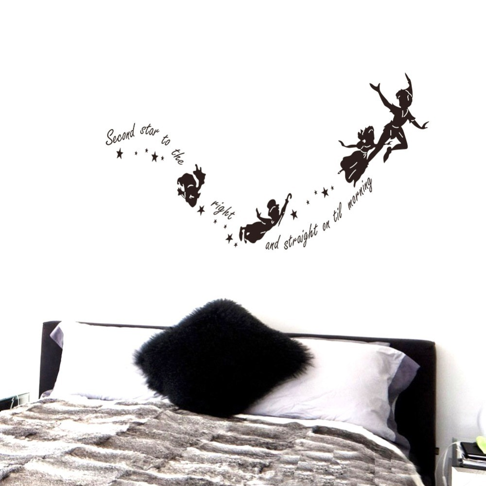 Tinkerbell second star to the right peter pan wall decal sticker tinkerbell second star to the right peter pan wall decal sticker kids art mural in wall stickers from home garden on aliexpress alibaba group amipublicfo Gallery