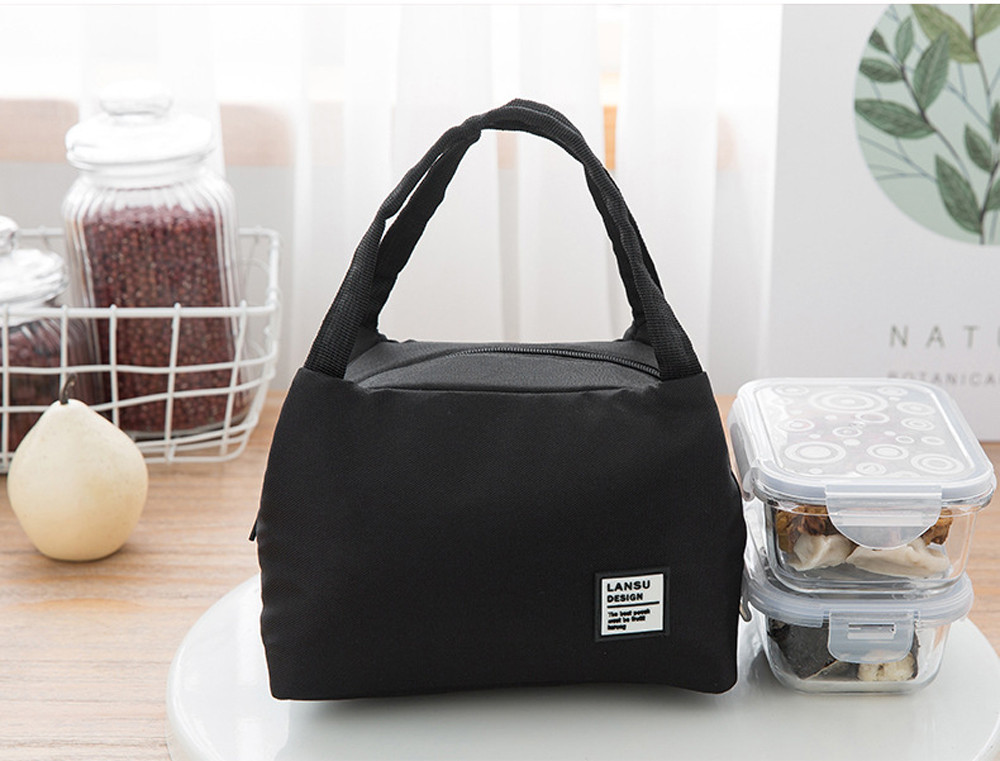 Fashion Portable Insulated Canvas lunch font b Bag b font Thermal Food Picnic Lunch font b