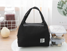 Fashion Portable Insulated Canvas lunch Bag Thermal Food Picnic Lunch Bags for Women kids Men Cooler Lunch Box Bag Tote^15