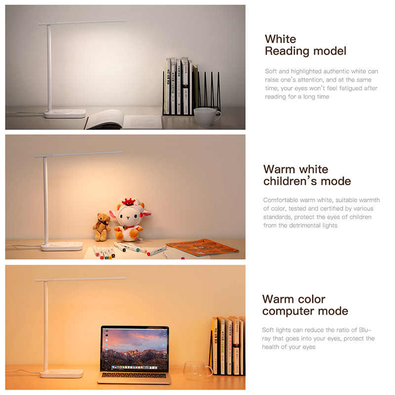 Baseus conduziu a lâmpada de mesa qi carregador sem fio para iphone xs samsung dobrável mesa luz 10 w rápido carregamento sem fio almofada lâmpada mesa