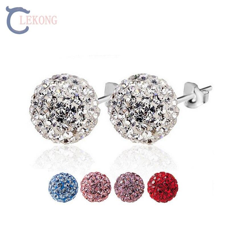 Lekong gypsophila flower stud earrings silver earrings 925 korean earrings