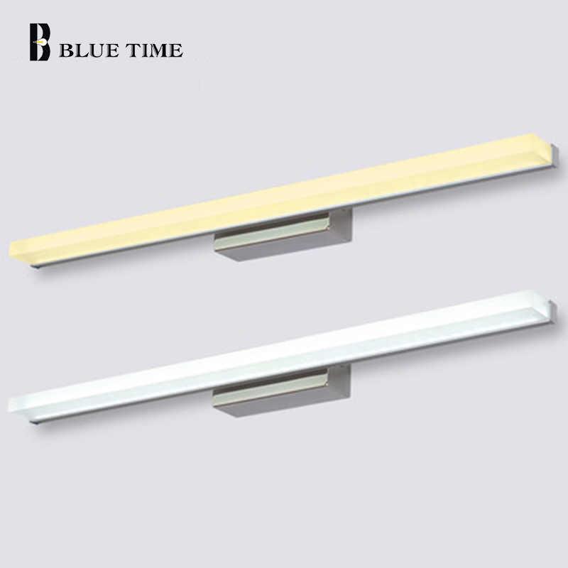40 см, 60 см/80 см 100 см 120 см длиннее светодиодный туалетное зеркало со светодиодной подсветкой современная косметическая акриловая настенная лампа для Ванная комната освещение Водонепроницаемый AC85-260V