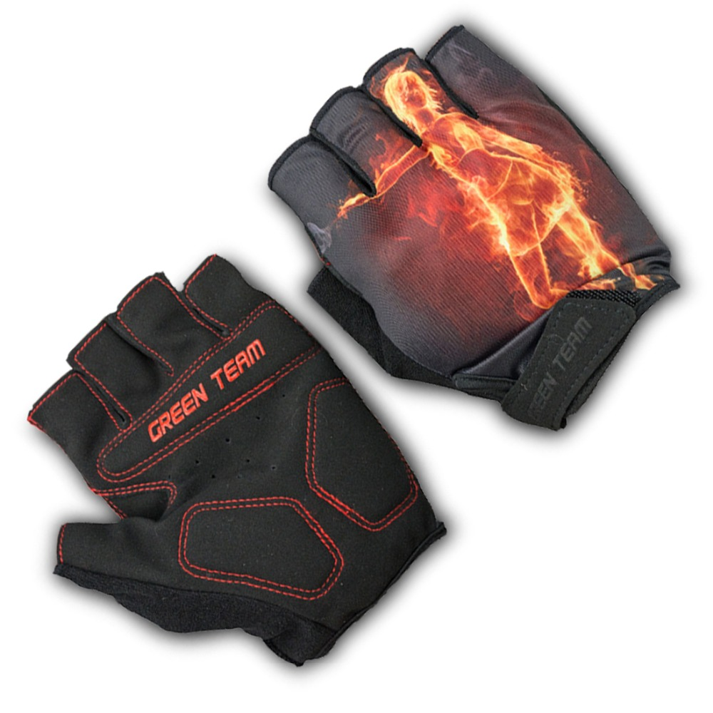 Ladies leather cycling gloves - Brand Design Cycling Gloves Top Rate Pro Team Bike Half Finger Glove High Quality Road Cycling Wear Guantes De Bicicleta Bxcg008