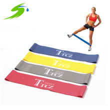 Rubber Resistance Bands Exercise Equipment Body Building Latex Pull Rope Crossfit Fitness Yoga Gym Strength Band 4 Levels Sd008